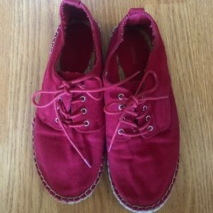 Forever 21 red shoes lace up